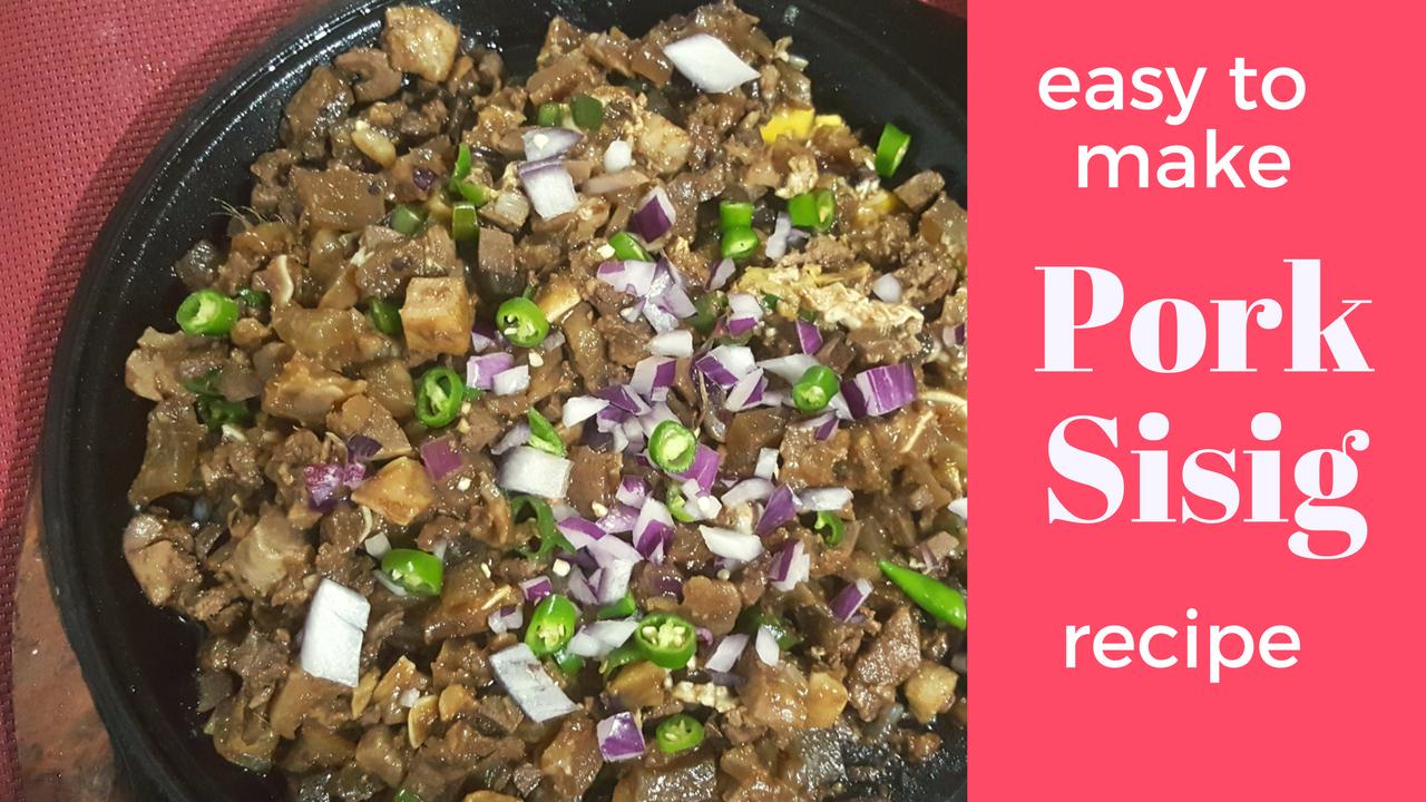 Sizzling Sisig/Pork Hash (Filipino Style)