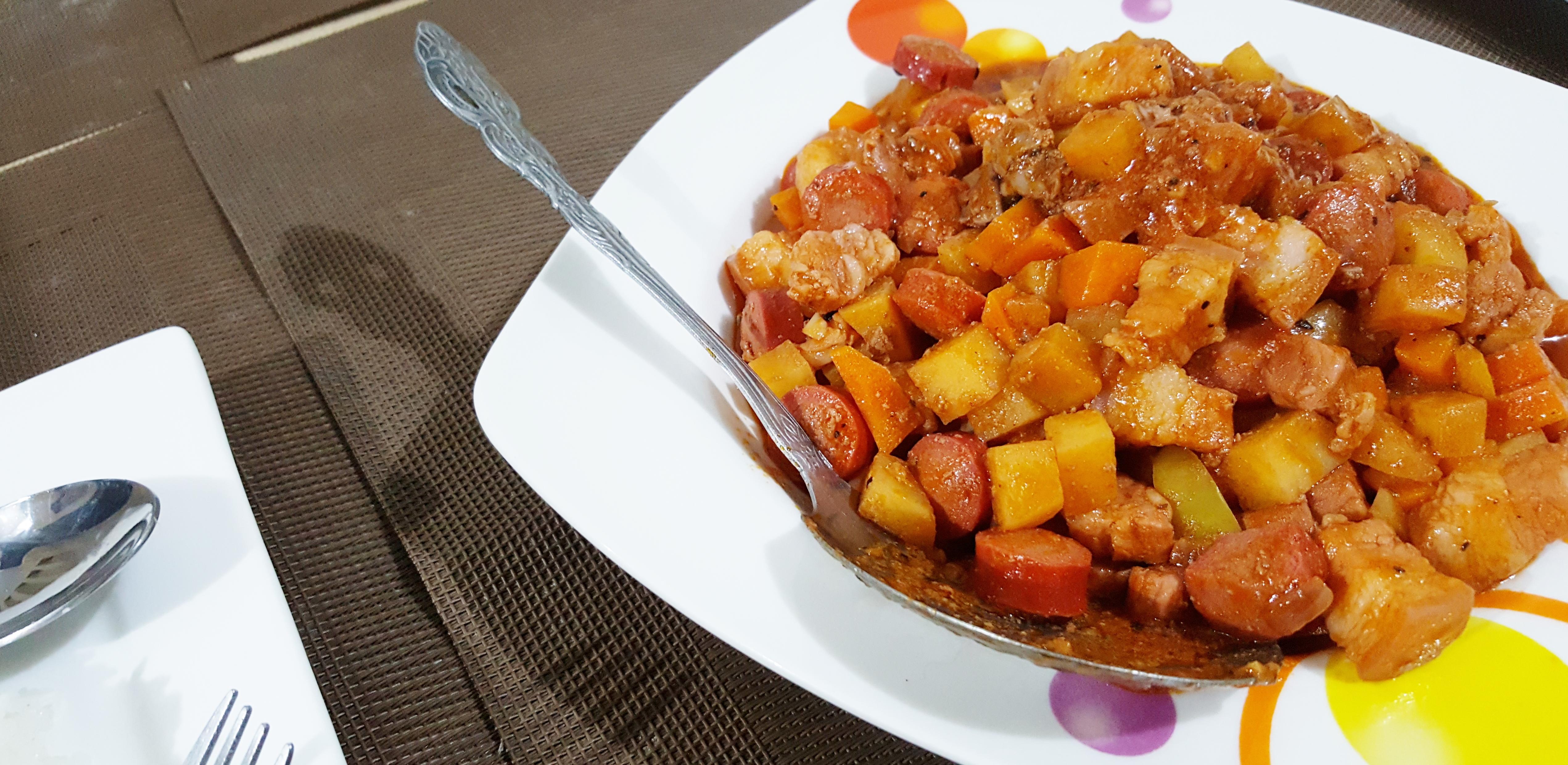 Pork Menudo | Pork Stew in Tomato Sauce
