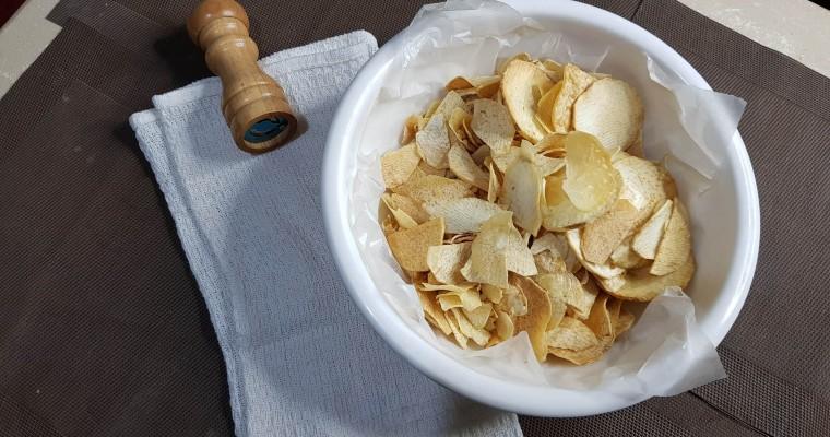 Healthy  Homemade Taro Chips   Gabi Chips